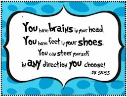 "Dr. Seuss Quote - Poster for Classroom Wall from ""Oh, the Places You'll Go"""
